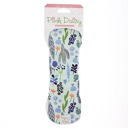 Pink daisy organic cotton feminine pads - medium