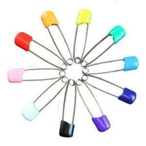 Plastic Headed Nappy Pins -  single pin