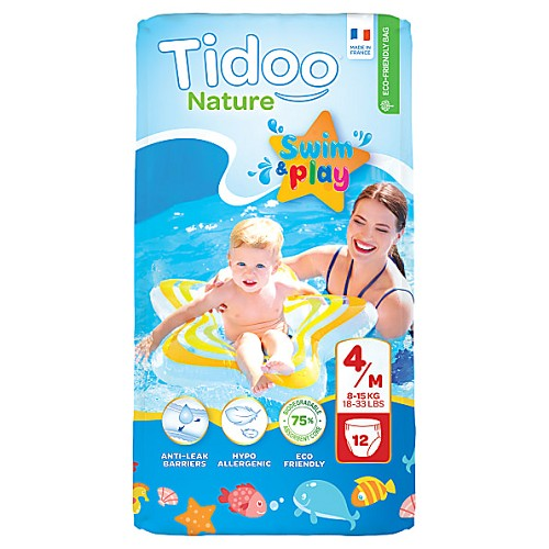 Tidoo Nature swim and play nappies (size 3. 4 and 5)